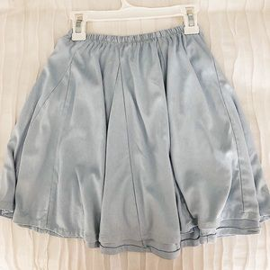 light blue  brandy melville pleaded suede skirt